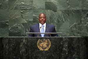 The DRC's President Joseph Kabila during an address to the UN General Assembly in New York. Photo courtesy MONUSCO/Flickr