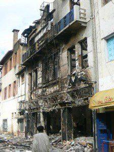 Destruction in Antananarivo following Madagascar's 2009 coup. Photo courtesy fanalana_azy/Flickr