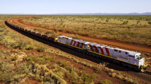 Driving itself: a fully autonomous train that is the prototype of those likely to traverse Africa's wide plains runs on the private rail line of the mining firm Rio Tinto in Australia. Image courtesy: Christian Sprogoe Photography. Available from: https://tinyurl.com/zt4pt2c