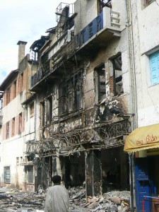 Destruction in Antananarivo following Madagascar's 2009 coup. Photo courtesy fanalana_azy/Flickr