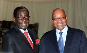 Picture of President Zuma and Robert Mugabe