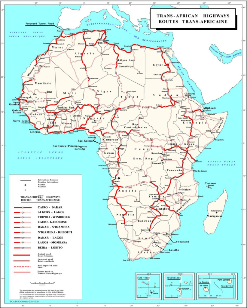 In fits and starts, the Trans-African Highway extends its ... N Djamena On A Map Of Africa on cairo on a map of africa, khartoum on a map of africa, dakar on a map of africa, abuja on a map of africa, djibouti on a map of africa, maputo on a map of africa, ouagadougou on a map of africa, chad on a map of africa, mogadishu on a map of africa, freetown on a map of africa, algiers on a map of africa,